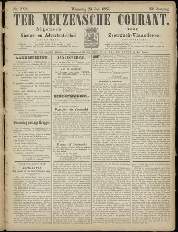 Ter Neuzensche Courant. Algemeen Nieuws- en Advertentieblad voor Zeeuwsch-Vlaanderen / Neuzensche Courant ... (idem) / (Algemeen) nieuws en advertentieblad voor Zeeuwsch-Vlaanderen 1885-06-24