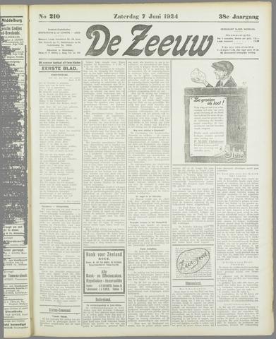 De Zeeuw. Christelijk-historisch nieuwsblad voor Zeeland 1924-06-07