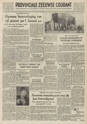 Provinciale Zeeuwse Courant 1953-09-29