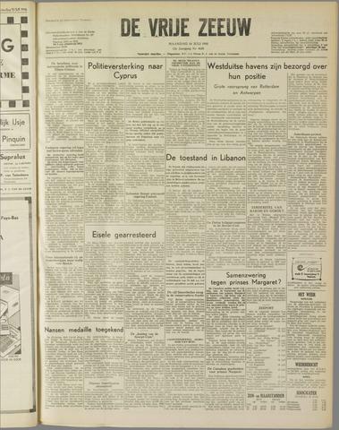 de Vrije Zeeuw 1958-07-14