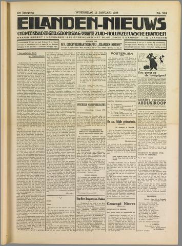 Eilanden-nieuws. Christelijk streekblad op gereformeerde grondslag 1938-01-12