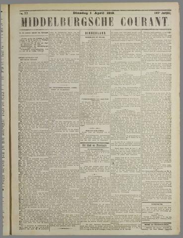 Middelburgsche Courant 1919-04-01