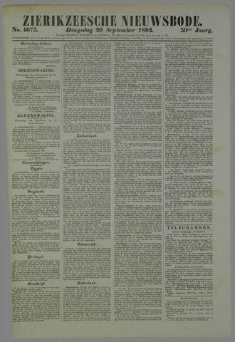 Zierikzeesche Nieuwsbode 1882-09-26