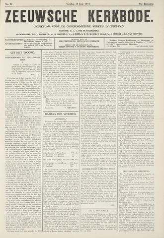 Zeeuwsche kerkbode, weekblad gewijd aan de belangen der gereformeerde kerken/ Zeeuwsch kerkblad 1934-06-15