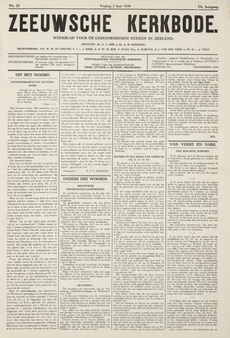 Zeeuwsche kerkbode, weekblad gewijd aan de belangen der gereformeerde kerken/ Zeeuwsch kerkblad 1939-06-02