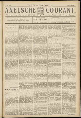 Axelsche Courant 1938-02-18