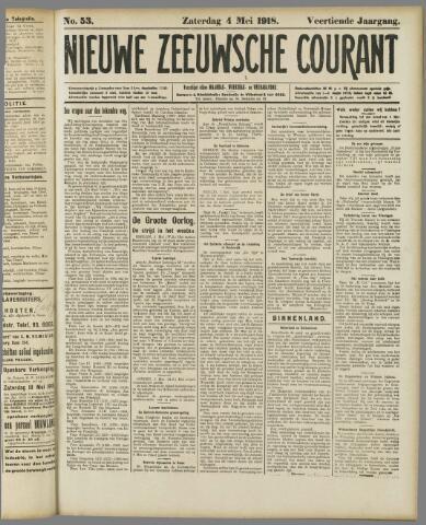 Nieuwe Zeeuwsche Courant 1918-05-04