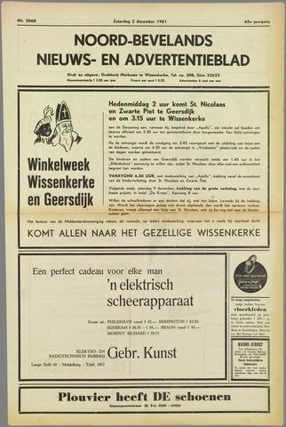 Noord-Bevelands Nieuws- en advertentieblad 1961-12-02