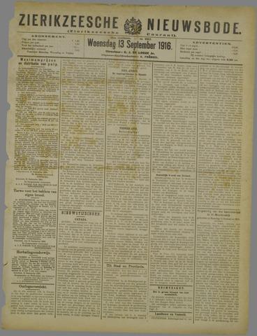 Zierikzeesche Nieuwsbode 1916-09-13