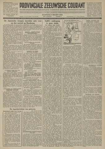 Provinciale Zeeuwse Courant 1942-03-09