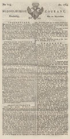 Middelburgsche Courant 1764-09-20