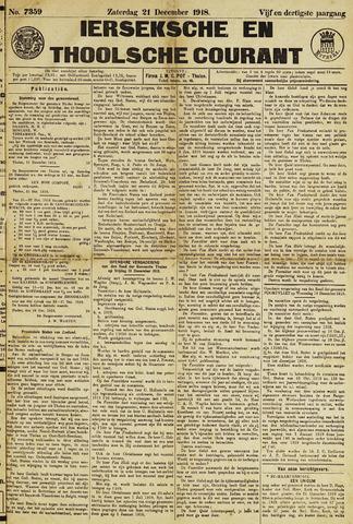 Ierseksche en Thoolsche Courant 1918-12-21