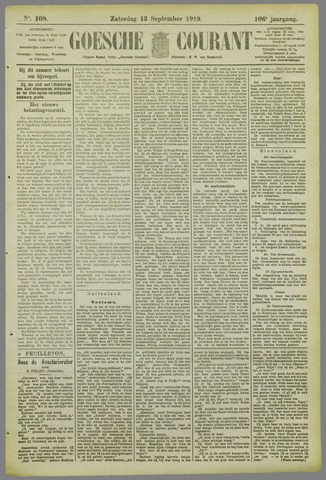 Goessche Courant 1919-09-13