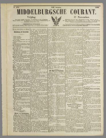 Middelburgsche Courant 1905-11-17