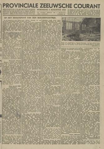 Provinciale Zeeuwse Courant 1943-08-04