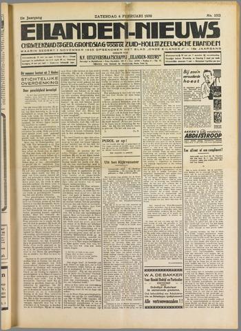 Eilanden-nieuws. Christelijk streekblad op gereformeerde grondslag 1939-02-04