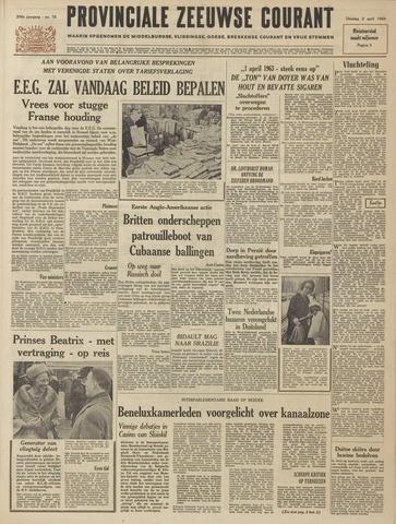 Provinciale Zeeuwse Courant 1963-04-02