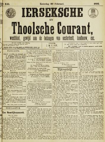 Ierseksche en Thoolsche Courant 1892-02-20