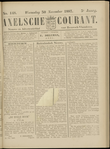 Axelsche Courant 1887-11-30
