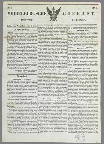 Middelburgsche Courant 1865-02-23