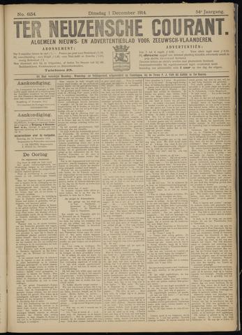 Ter Neuzensche Courant. Algemeen Nieuws- en Advertentieblad voor Zeeuwsch-Vlaanderen / Neuzensche Courant ... (idem) / (Algemeen) nieuws en advertentieblad voor Zeeuwsch-Vlaanderen 1914-12-01