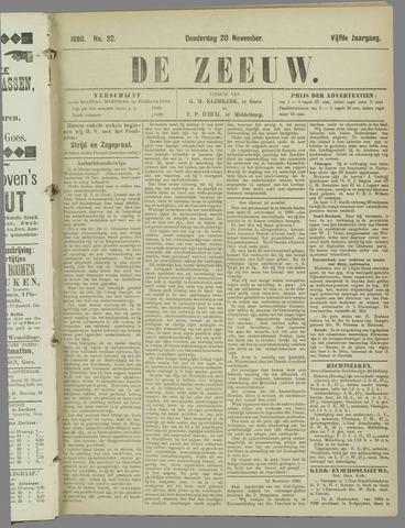 De Zeeuw. Christelijk-historisch nieuwsblad voor Zeeland 1890-11-20