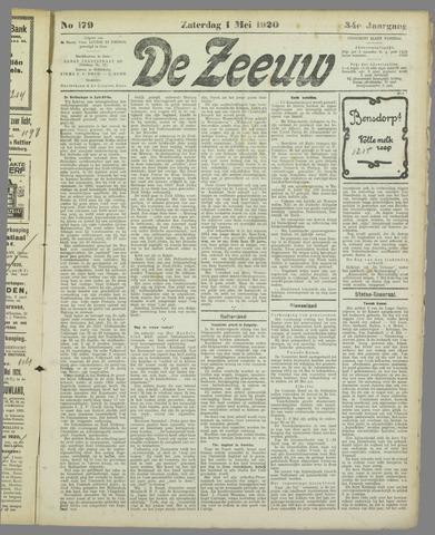 De Zeeuw. Christelijk-historisch nieuwsblad voor Zeeland 1920-05-01