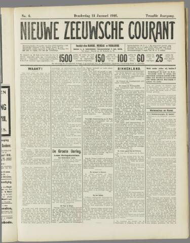 Nieuwe Zeeuwsche Courant 1916-01-13