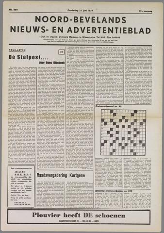Noord-Bevelands Nieuws- en advertentieblad 1974-06-27