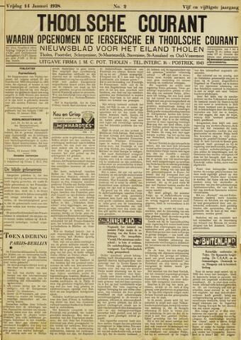 Ierseksche en Thoolsche Courant 1938-01-14
