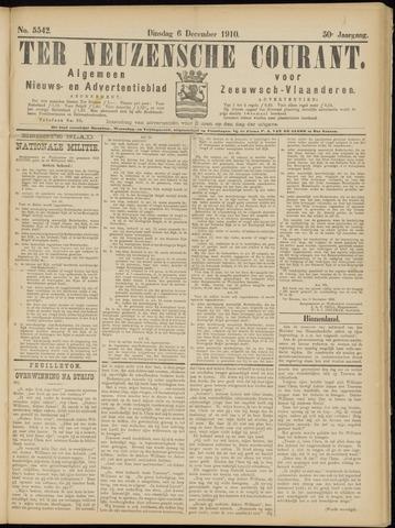 Ter Neuzensche Courant. Algemeen Nieuws- en Advertentieblad voor Zeeuwsch-Vlaanderen / Neuzensche Courant ... (idem) / (Algemeen) nieuws en advertentieblad voor Zeeuwsch-Vlaanderen 1910-12-06