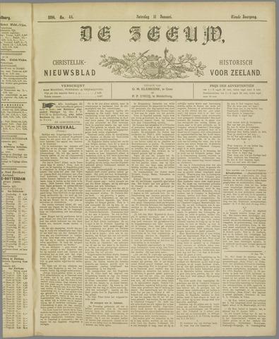 De Zeeuw. Christelijk-historisch nieuwsblad voor Zeeland 1896-01-11