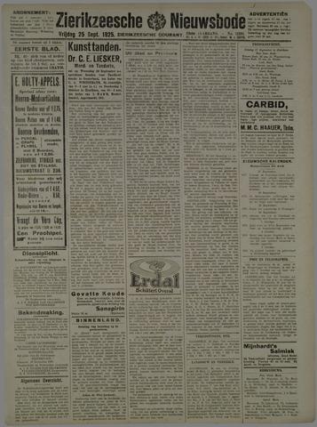 Zierikzeesche Nieuwsbode 1925-09-25