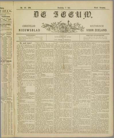 De Zeeuw. Christelijk-historisch nieuwsblad voor Zeeland 1896-07-02