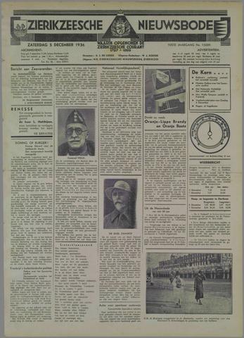 Zierikzeesche Nieuwsbode 1936-12-05