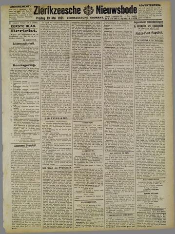 Zierikzeesche Nieuwsbode 1921-05-13