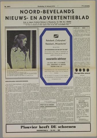 Noord-Bevelands Nieuws- en advertentieblad 1974-02-14