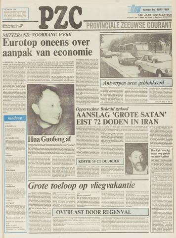 Provinciale Zeeuwse Courant 1981-06-30