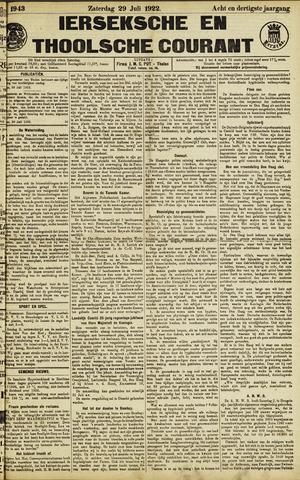 Ierseksche en Thoolsche Courant 1922-07-29