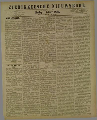 Zierikzeesche Nieuwsbode 1889-10-01