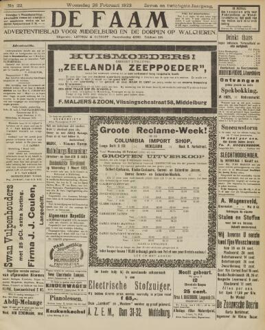 de Faam en de Faam/de Vlissinger 1923-02-28
