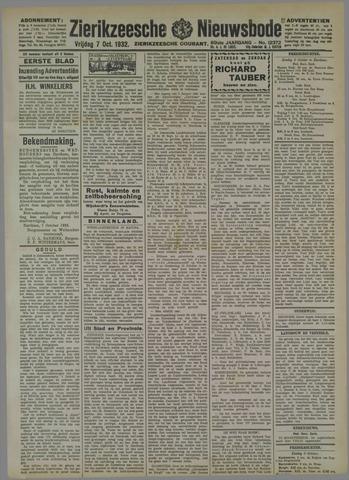 Zierikzeesche Nieuwsbode 1932-10-07