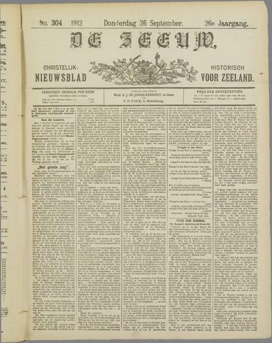 De Zeeuw. Christelijk-historisch nieuwsblad voor Zeeland 1912-09-26