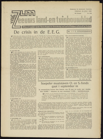 Zeeuwsch landbouwblad ... ZLM land- en tuinbouwblad 1965-07-23