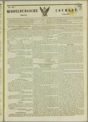Middelburgsche Courant 1847-12-07