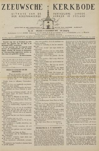 Zeeuwsche kerkbode, weekblad gewijd aan de belangen der gereformeerde kerken/ Zeeuwsch kerkblad 1945-12-14