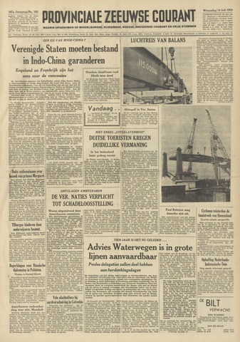 Provinciale Zeeuwse Courant 1954-07-14