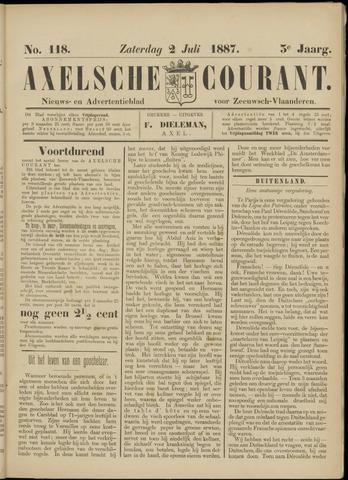 Axelsche Courant 1887-07-02