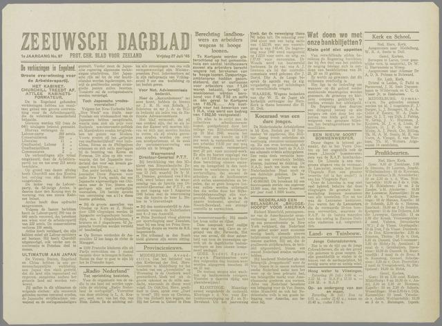 Zeeuwsch Dagblad 1945-07-27