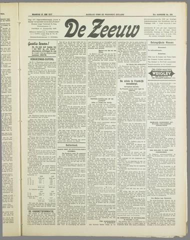De Zeeuw. Christelijk-historisch nieuwsblad voor Zeeland 1937-06-21